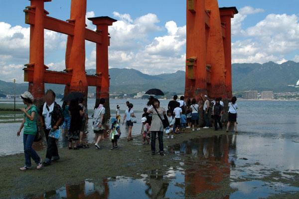 厳島神社干潮5記念