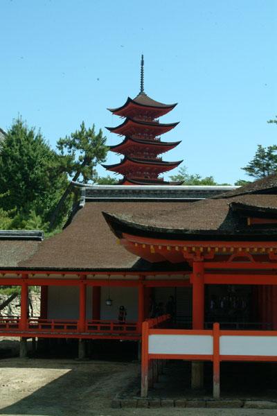 厳島神社参拝19五重塔