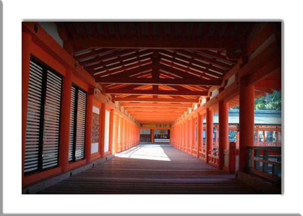 厳島神社参拝2回廊
