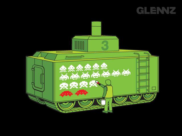 この戦車、ちょっとかわいい