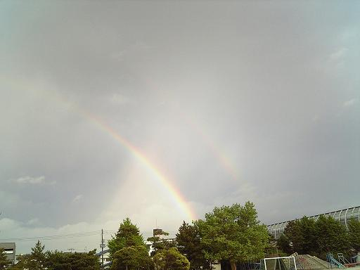 グランドで見た虹゛1 (1)