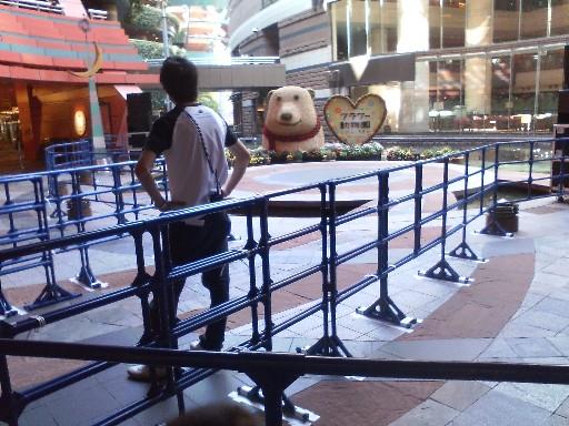 厳重警備のクマ
