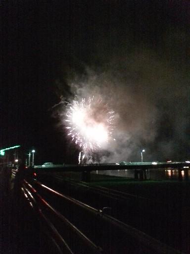花火大会・橋の向こうから
