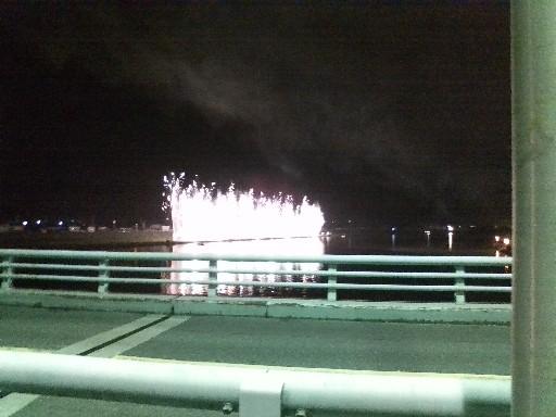 花火大会・橋の上から①
