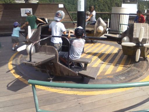 筑紫野市総合公園・飛行機のメリーゴーランド