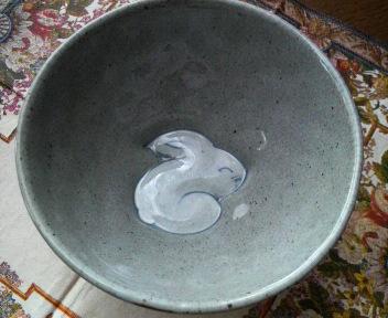 うさぎ お茶碗内側