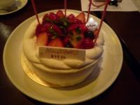 バースデーケーキ。緒方光代さんから