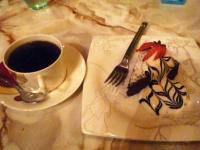 【太陽の塔】のガトーショコラと珈琲のセット 850円
