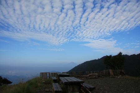 花立山荘から見えた富士山
