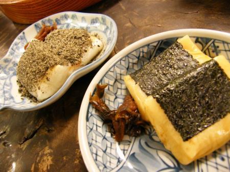 黒ゴマきな粉 と 磯辺餅