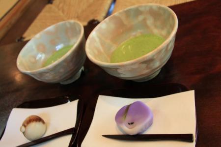 抹茶と生菓子セット