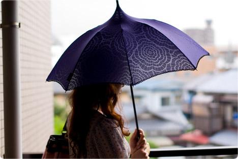 アナスイ パゴダタイプの日傘 パープル