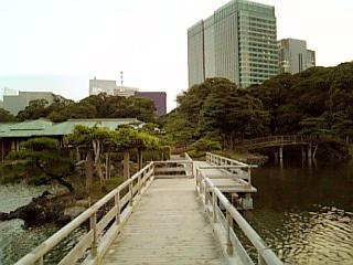 浜離宮 中島の御茶屋 桟橋