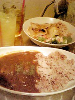 Akagi Cafe ハッシュドビーフ+ポークジンジャー