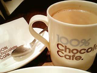 100% CHOCOLATE CAFE ショコラドリンク