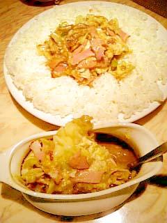 炒伽哩 ベーコンエッグ野菜curry