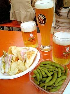 日比谷オクトーバーフェスト2008 ビール+食べ物