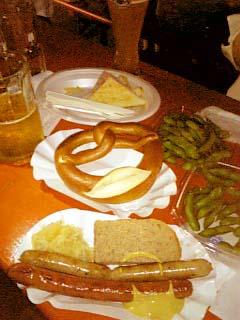 日比谷オクトーバーフェスト2008 ドイツ風料理