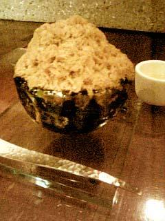 茶の葉 氷菓子(焙じ茶)