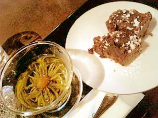 花想容 チョコレートケーキ+茉莉香茶