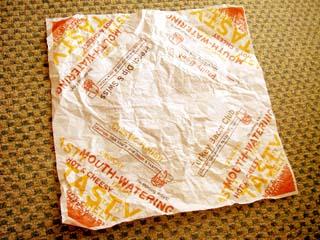 Arby's 包み紙