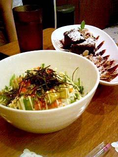 WIRED CAFE 丼+チョコブラウニー