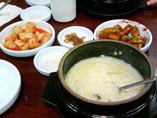 韓国 朝粥