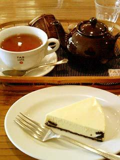 FAB cafe オレオのレアチーズケーキ