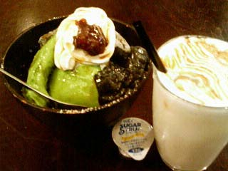 kawara cafe&dining パフェ&キャラメル豆乳