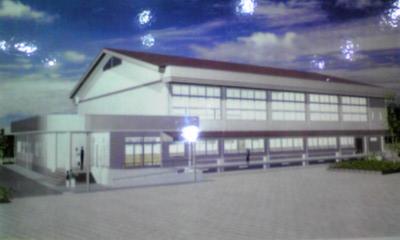 鍋島小学校新体育館完成予想図