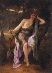 狩りの女神ディアナ カバネル