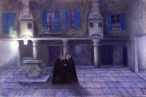 夜の中庭あるいは陰謀