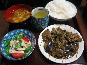 09-02 麻婆茄子お肉
