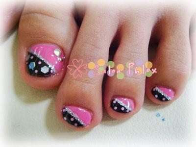 ピンク&ブラック フット