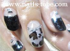 ハート豹&ブラック