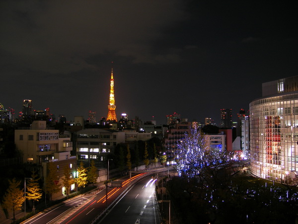 ヒルズから見る東京タワー