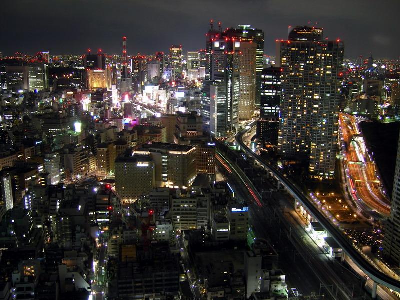 汐留・新橋方向・夜