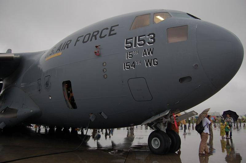 C-17ノーズ付近