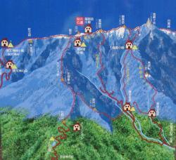 絵地図 鳳凰三山