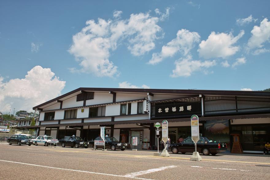 木曽福島 駅 夏 JR 青空 雲