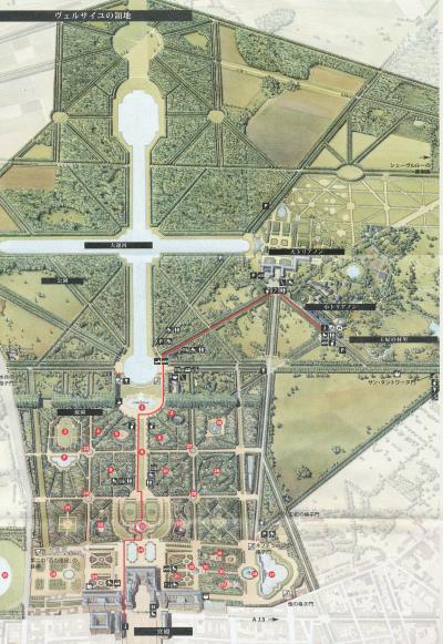 ベルサイユ宮殿 map
