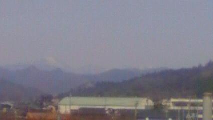 浅間山が見えます