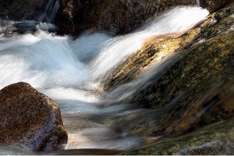 一里松キャンプ場川