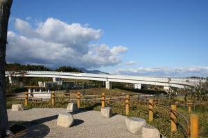 亀山ハイウェイオアシスからの東名阪自動車道
