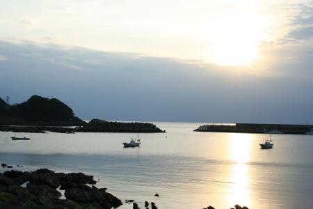 日置川町あたりの夕日