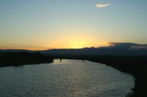沈んだ夕日