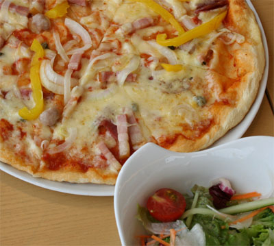 大きなピッザだけど、美味しくてぺろり♪