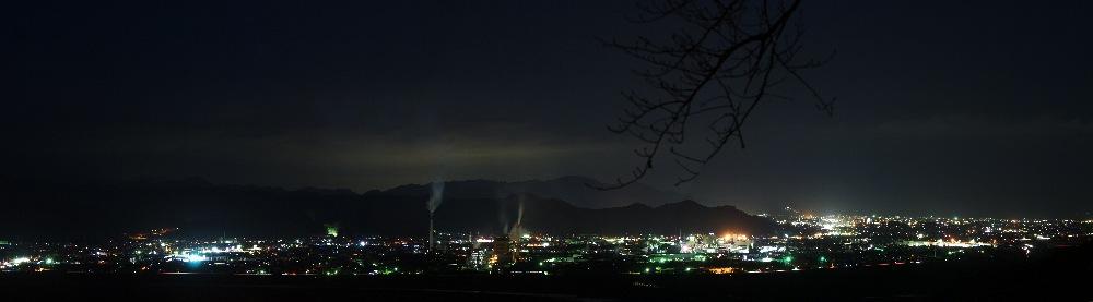 牧の原公園夜景パノラマ080927no2