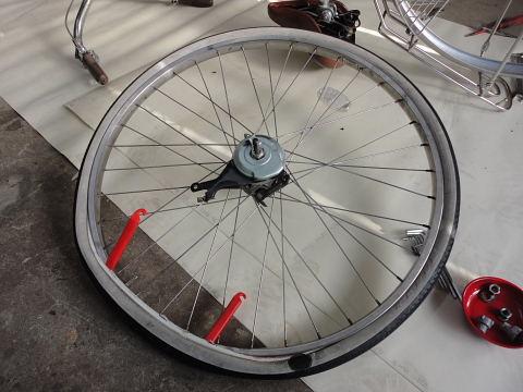 自転車の 自転車のタイヤ交換 自分で : ... 日記 | ママチャリ タイヤ交換