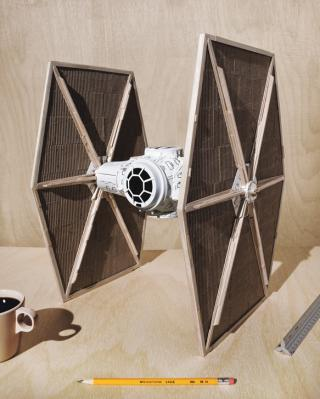 200907 TIE Fighter made by Starbucks